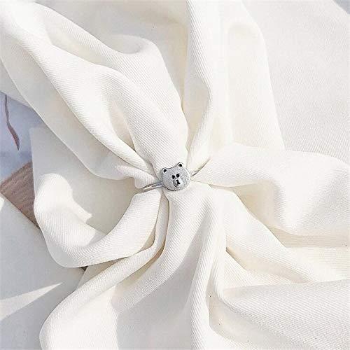 Kostüm Niedlichen Frauen Kreative - AXJa Kreative Mode Exquisite Frauen Niedlichen Tier 925 Sterling Silber Schmuck Süße Persönlichkeit Bär Öffnung Ringe ein Einzigartiger Ring Können Ihnen Glück Bringen