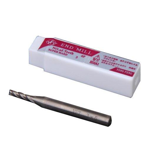 HSS 4 Flute 3mm x 6mm Schaft Schaftfräser