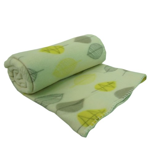 Yellow Leaf Design 120x150cm Fleece Soft Sofa Bed Couch Cover Throw Blanket
