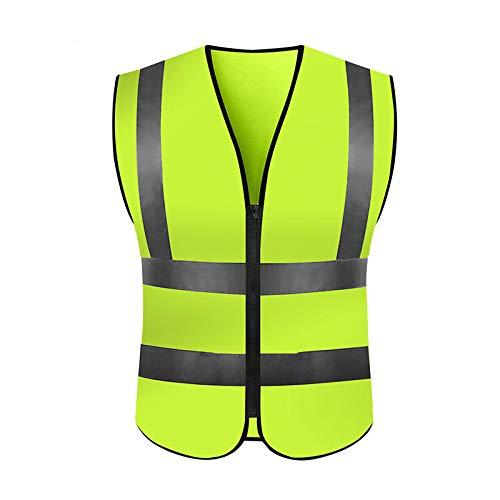 Auto Warnweste Warnwesten Sicherheitsweste Set Warnweste | Atmungsaktiv |360 Grad Reflektierende Schutz Weste (Gelb) -