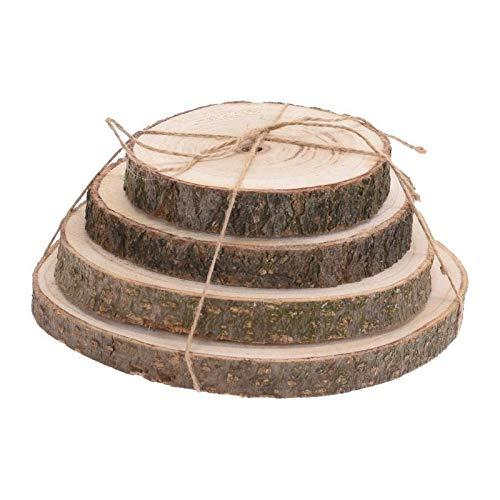 Home @ Styling Collection Baumstumpf aus Naturholz - 4 Stück im Set Durchmesser der Stümpfe: 14/16/18/20 cm (Home-styling)