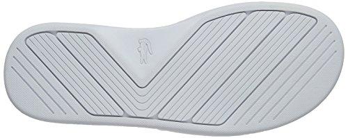 Lacoste L.30 Slide Sport Spm Blk, Tongs Homme Blanc (Wht)