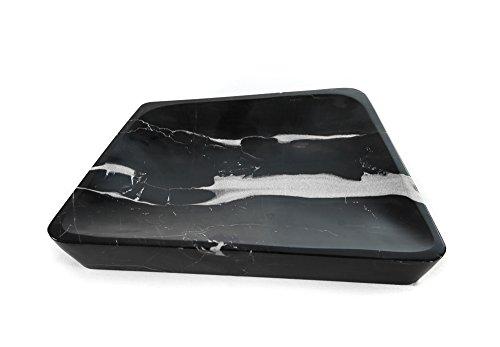 Bol en marbre rectangulaire petit modèle pierre naturelle unique Günstig précieux, noir, 28 x 18 x 4 cm