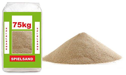 75kg Spielsand - TÜV geprüft - ÖKO Test Sieger - Quarzsand bester Qualität 0-2mm Körnung