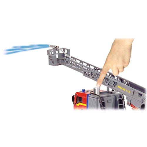 Dickie Toys 203715001 – City Fire Engine, Feuerwehrauto mit manueller Wasserspritze, 31 cm - 7
