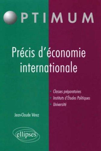 Précis d'économie internationale par Jean-Claude Vérez