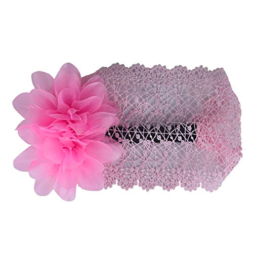 Ruiting Dentelle grande fleur Accessoires cheveux pour enfants Photographie instantanée Accessoires cheveux (Rose) 1pc Produits Pour Bébés Ruiting