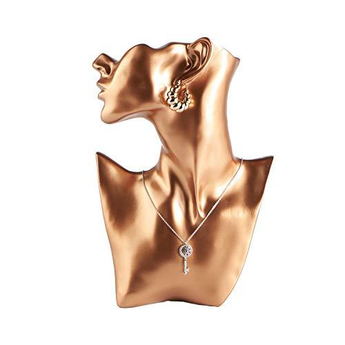 Sogreat - espositore per gioielli, in resina, colore oro rosa