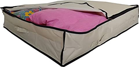 Stupidly Useful Underbed Storage Bag – Heavy Duty - Strong 600D Polyester Material With 4x Web Reinforced Handles - For Clothes, Duvets & Bedding - Alternative to Blanket Box (XL 140 Litres,