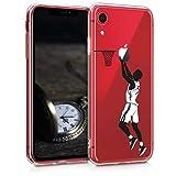 kwmobile Apple iPhone XR Hülle - Handyhülle für Apple iPhone XR - Handy Case in Sport Basketball Design Schwarz Weiß Transparent