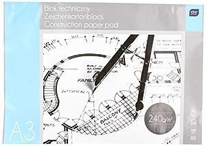 Interdruk BLTA3PRE Premium - Bloc de Dibujo técnico (240 g, A3 10, Multicolor)
