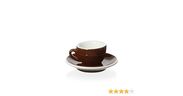 cilio 4er Set Espresso Tasse mit Löffel Porzellan Bacio in Türkis