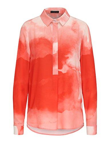 APART Fashion Damen Bluse Mehrfarbig (Orange-Multicolor)