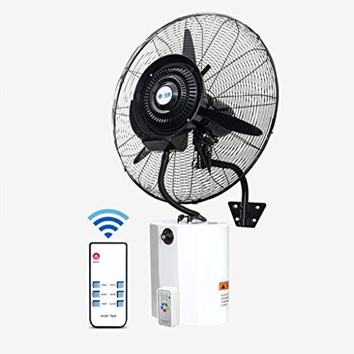 Lattice Ventilatori a piantana Ventilatore con Nebulizzatore A Parete, Serbatoio da 12 L, Oscilating, 3 velocità, con Telecomando, per Uso Industriale, Esterno, Commerciale, Residenziale