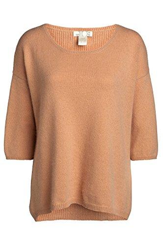 Pullover, Angora-Gemisch, Größe 34bis Plus-Größe 52, Aprikose / Hautfarben Gr. 38-40, Apricot Nude Peach Neutral - Peach Knit Top
