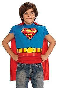 morris costumes Superman MUSC Shirt Cape Child