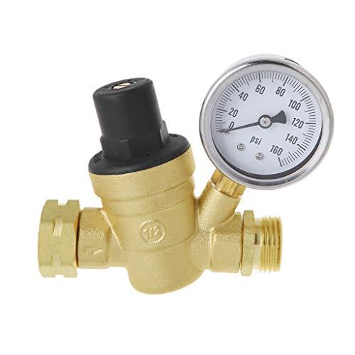 Preset Regulator (JunYe Wasserdruckregler für Wohnmobile Messing bleifrei einstellbar RV Wasserdruckminderer 160PSI)