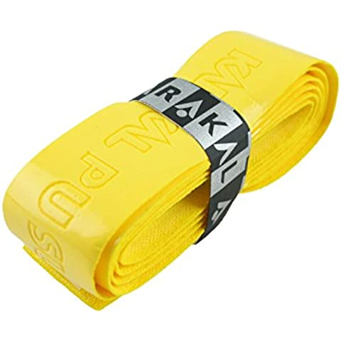 Karakal Super PU Replacement Grips - Tennis - Squash - Badminton (2 x Yellow) by Karakal