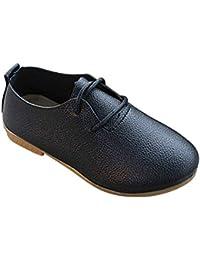 Yudesun Zapatos Mocasines Niña - Zapatos de Cuero para Niños Cabeza Redonda Cómodas Ocio Princesa Suave