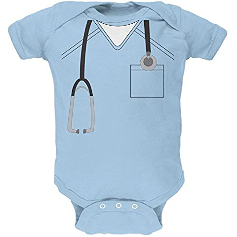 Scrubs-Kostüm Halloween Arzt Light Blue weiches Baby 1 Gepäckstück - 3-6 Monate