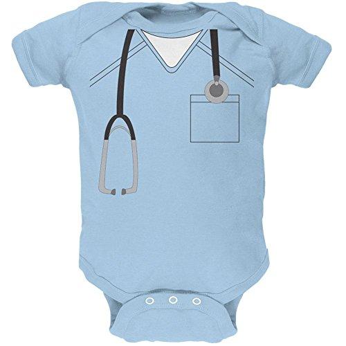 ween Arzt Light Blue weiches Baby 1 Gepäckstück - 3-6 Monate (Halloween-kostüm Scrubs)