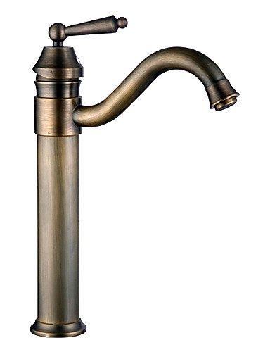 PJSKJZQ Lavandino rubinetto del bagno Tradizionale Ottone antico