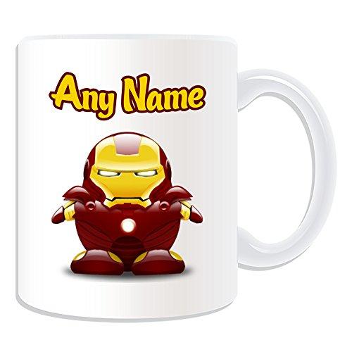 chenk–Tony Stark Tasse (Pinguin Film Charakter Design Thema, weiß)–Jeder Name/Nachricht auf Ihre Einzigartiges–Kostüm Film Superheld Hero Marvel Comics Avengers Guardians Galaxy Iron Man (Familie Avengers Kostüme)