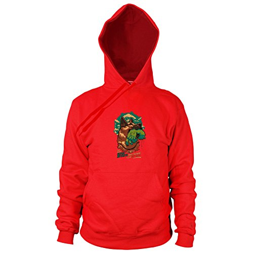 Fallout Mutant Super Kostüm - Planet Nerd Super Mutant Dog - Herren Hooded Sweater, Größe: XXL, Farbe: rot