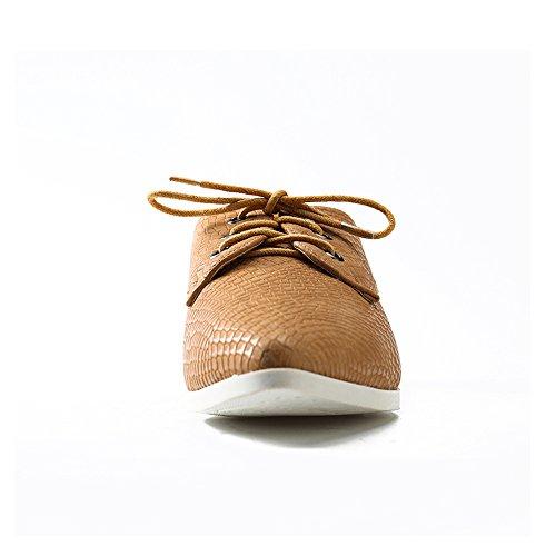 Alexis Leroy Chaussures plates à lacets Derby Femme Abricot