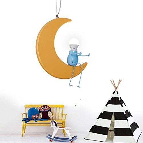 Kronleuchter zu Hause personalisierte Kronleuchte Kinderzimmer-Leuchter kreative Persönlichkeit Cartoon Mond Jungen und Mädchen Baby-Raum-Licht-Lampen - 3