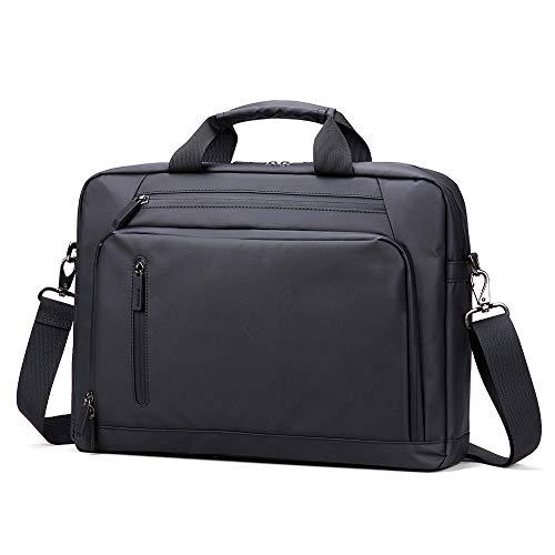 BR-Bag Einfache Computer-Tasche, modische Regen-Computer-Handtasche, Unisex-Computer-Umhängetasche, stoßfeste Laptop-Umhängetasche, Business-Tasche, Aktentasche - Schwarz - Modische Computer-aktentasche