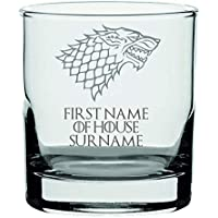 Lapal Dimension (Custom) Personalised House Stark Game of Thrones Inspired Whisky Glass