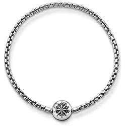 Thomas Sabo Karma Beads, Unisex Armband, 925er Sterlingsilber, geschwärzt