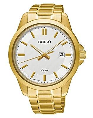 Seiko Reloj Analógico para Hombre de Cuarzo con Correa en Acero Inoxidable SUR248P1