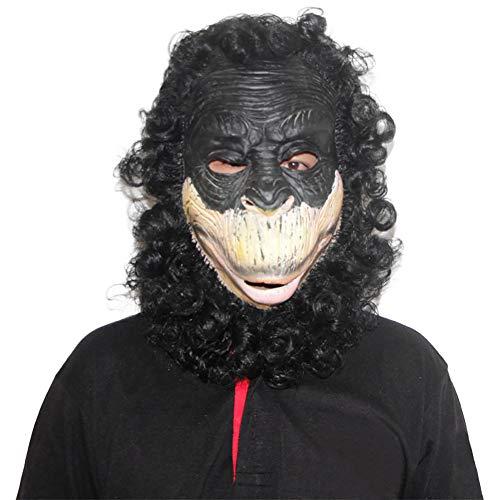 Monkey Kostüm Soft - Story of life Latex Tier Maske Gorilla Kopfbedeckung Full Head Monkey Halloween Requisiten Horror Party Prom Maske Maskerade Dress Up Game