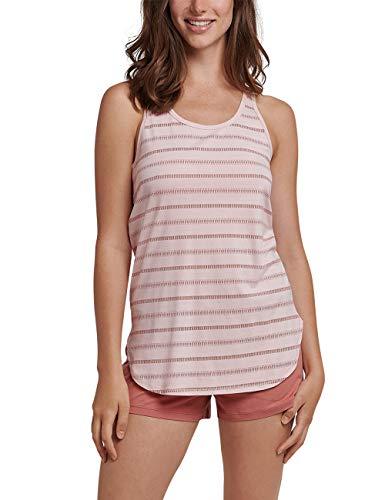 Schiesser Damen Anzug Kurz, 0/0 Arm Zweiteiliger Schlafanzug, Gelb (Pfirsich 612), 36 (Herstellergröße: 036) (Frauen-sommer-pyjama)
