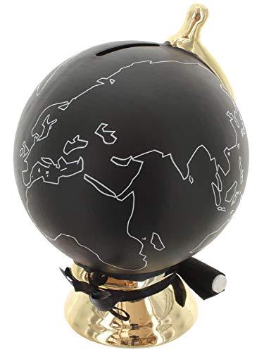 Mikata Fun Shopping Hucha–Bola del Mundo con Tiza Negro