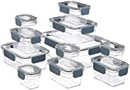 Amazon Basics - Tritan-Frischhaltedose mit Verschluss, 22er-Packung (11 dosen + 11 deckeln)