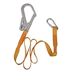 Generic Outdoor Climbing Safety Harness Belt Lanyard With Carabiner Buckle