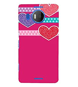 Pink Hearts Love 3D Hard Polycarbonate Designer Back Case Cover for Nokia Lumia 950 XL :: Microsoft Lumia 950 XL