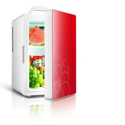 Preisvergleich Produktbild CivilWeaEU Mononukleäre Kühlschrank Auto Auto nach Hause Dual Mini-Kühlschrank mit Gefrierfach kleine Haushaltskühlschränken Isolierung ( Farbe : Rot )