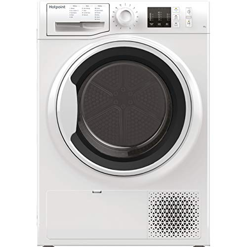 HOTPOINT NTM1081WK 8kg Freestanding Condenser Tumble Dryer With Heat Pump Tech - White