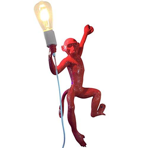 ZWD Animal lampe de table de bande dessinée, magasin de vêtements rouge créatif résine Lustre Chambre d'enfants couleur multiple décoration lustre corde de chanvre lustre lampe murale Luminaire ( Couleur : C )