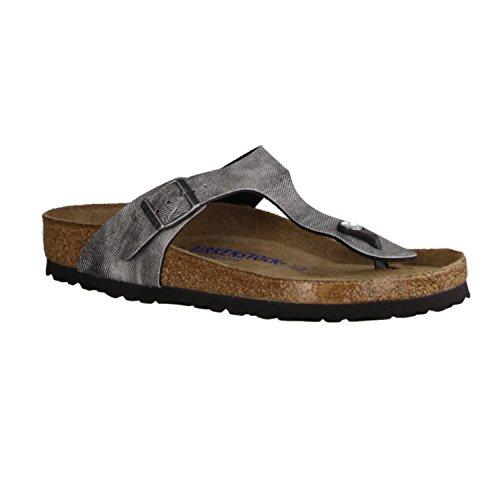 Birkenstock, Infradito donna grigio Grau, grigio (Used Jeans Grey), 40 EU