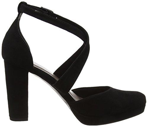 Tamaris 24406, Sandali con Cinturino Alla Caviglia Donna Nero (Black Suede)