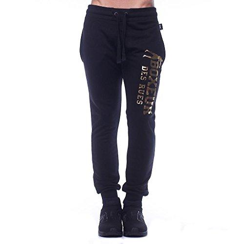 BOXEUR DES RUES BXE-1700G Pantalones, Hombre, Negro/Oro, XXL