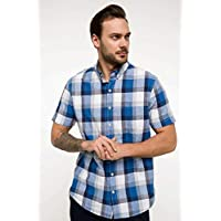 DeFacto Tek Cep Detaylı Ekoseli Gömlek