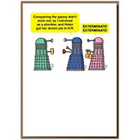"""Mungo And Shoddy """"Dream Job In HR - Exterminate!."""" Funny Greeting Card"""