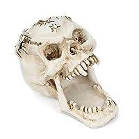 Asien 1 Pc Skull Shaped Pen Holder Multifunctional Desk Stationery Organizer Office Supply Skull Pencil Holder Tabletop Decoration