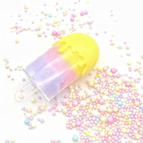Wolke Schleim Kinder Eis Stil Spaß Crazy Floam Schlamm Duft Entlastung Charme Simulation Lehm Spielzeug Glänzendes Geschenk, Gelb ()